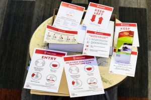 Pamphlets describing CODI-19 guidelines